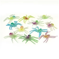 Glow in the Dark Spiders - 12 Pack