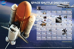 Space Shuttle Discovery Missions Poster