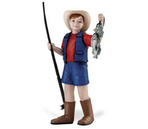 Safari People Toby with Fishing Rod Toy Model