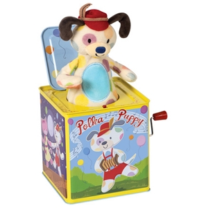 Polka Puppy Jack In The Box - Classic Toy