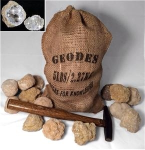 Gift Bag Break Your Own Geodes - 20 Whole Moroccan Geodes 2""