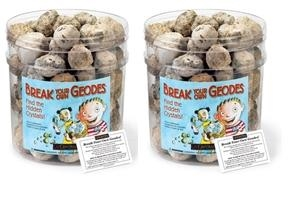 Break-Your-Own Geodes by Geocentral, Large with Jar. Geodes in Bulk, Whole Geodes, Unopened Geodes