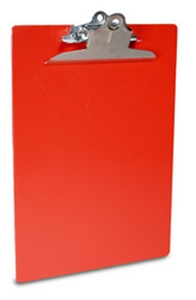 Recycled Plastic Clipboard - Red