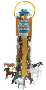 Safari Horses and Ponies Mega Toob