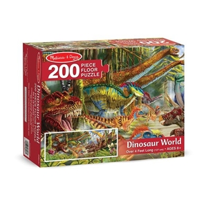 Dinosaur World Floor Puzzle | Melissa and Doug | 200 Pieces