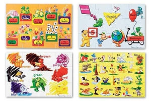 Melissa and Doug Beginning Skills 48 Piece Floor Puzzle