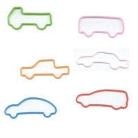 Memory Shape Rubber Bands Vehicles Assortment, Popular kids shaped rubber bands, Car, Truck, Bus