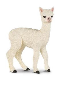 Wild Safari Farm Alpaca Baby Toy Model