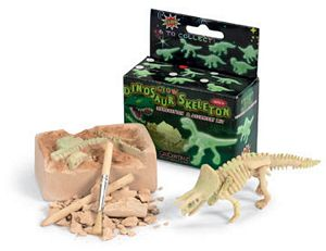Small Glow Dino Skeleton Excavation & Assembly Kit - dino dig