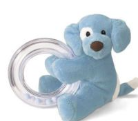 Gund Spunky Ring Rattle-Blue