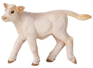 Wild Safari Farm Charolais Calf toy Model