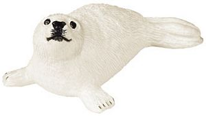 Wild Safari Sealife Harp Seal Pup Toy Model