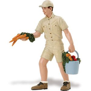 John with Carrots Zookeeper, Wildlife toys for kids, animal toys for kids, learn about animals