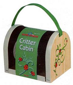 Critter Cabin - Wood bug holder, bug cather, bug kit, insect holder, wooden insect catcher, kids bug