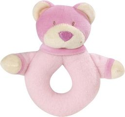 Plush Rattle Ring Bear Pink