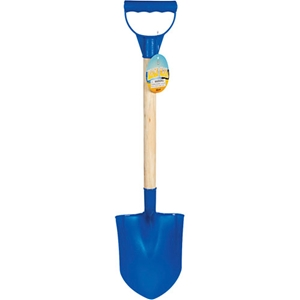Wood Handle Plastic Beach Shovel Kids - Blue