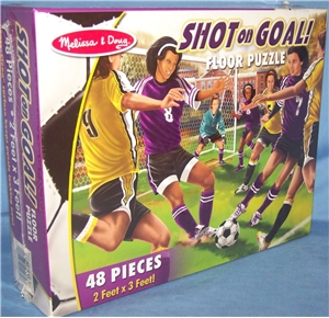 Melissa and Doug Shot on Goal Floor Puzzle - 48 pieces