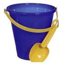 Kids Large Plastic Sand Bucket and Shovel, plastic bucket, childrens sand bucket, bucket shovel