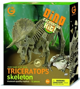 Geoworld Dinosaur Skeleton Excavation Kit - Triceratops