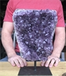 "Large Purple Druzy Cluster Amethyst on Metal Stand 11"" 10.10 lbs"