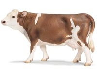 Schleich Simmental Cow Toy Model, cow toy, simmental cow model, simmental model,