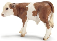 Schleich Simmental Calf Toy Model, calf toy, simmental calf toy, simmental calf model, simmental mod