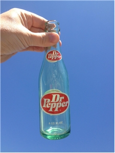 1970's 6 1/2 Oz Dr Pepper ACL Bottle