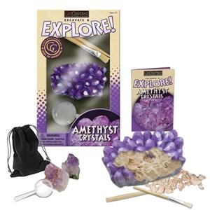 excavate explore amethyst cluster dig kit