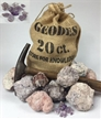 "20 Whole Mexican Amethyst Gemstone Geodes Purple Crystals 2"" - Gift Bag Break Your Own Geodes"