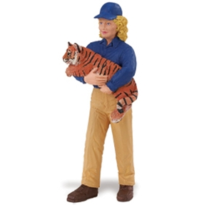 Safari People Janet with Tiger Cub Zookeeper Toy Model