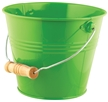Kids Bright and Colorful Metal Garden Pail - Green
