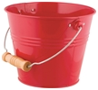 Kids Bright and Colorful Metal Garden Pail - Red
