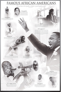 Famous African-Americans Poster