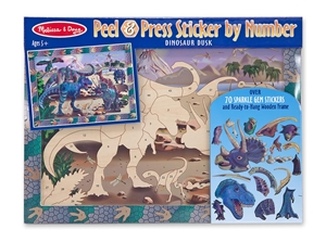 Peel & Press Sticker by Number - Dinosaur Dusk