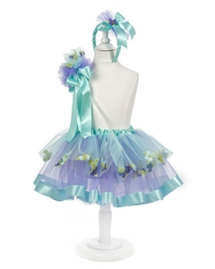 Forget me Knot Aqua Flower Skirt 11""