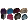 Agate End Cut with Base - Small - Assorted Colors