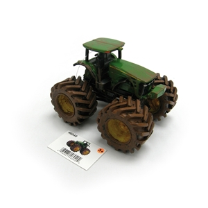 John Deere Monster Treads Muddy Tractor Toy Model