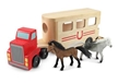 Melissa and Doug Horse Carrier Wooden Vehicles Play Set
