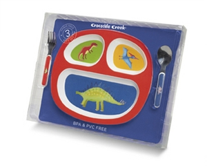 Dinosaurs Divided Plate Gift Set