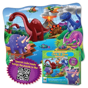 Puzzles In Motion - Click It! Dino
