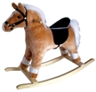 Blonde Rocking Horse w/White Mane &Tail