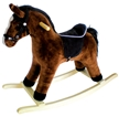 Dark Brown Rocking Horse w/Black Mane &Tail