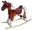 Pinto Rocking Horse w/White Mane &Tail