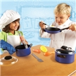 Pretend & Play Pro Chef Set, toy cooking tools. cooking tolls, kid cooking, kid dress up chef set, k