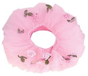 Pink Flower Tutuband with Tiara