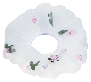 White Flower Tutuband with Tiara