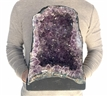 "Large Natural Amethyst Cathedral 29.5 Lbs Purple Amethyst Geode Color Crystal 13"" Display"
