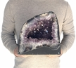 "Large Natural Amethyst Cathedral 26.1 Lbs Purple Amethyst Geode Color Crystal 9.5"" Display"