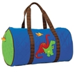 Dino Blue Quilted Duffle