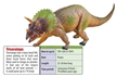 "Large 18"" Triceratops Dinosaur Toy Model"